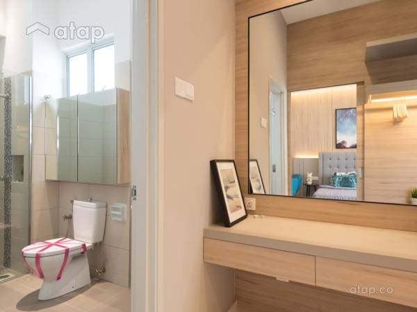 Contemporary modern bathroom bedroom acacia 3b show unit for lowyat group · solid design studio