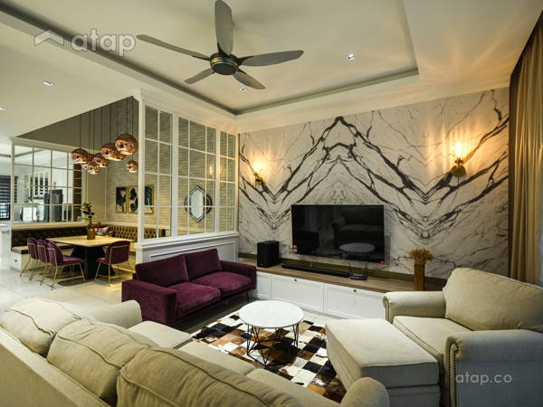 Contemporary Country Living Room@Modern English terrace home