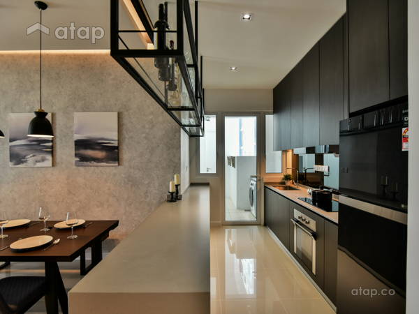 Contemporary Modern Dining Room Kitchen@Scenaria North Kiara