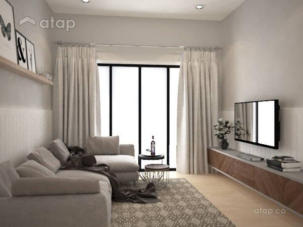 Minimalistic Modern Living Room@Bayu Villa Bungalow