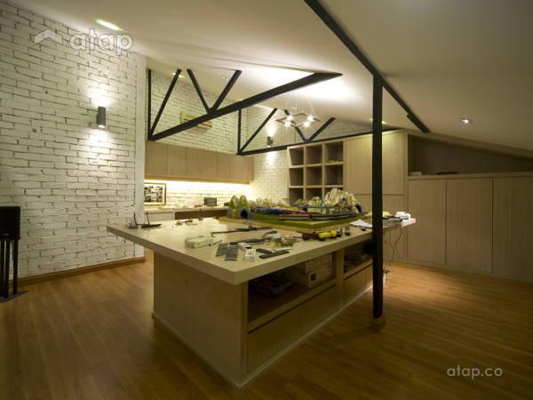 Malaysia Yellow Study Room architectural interior design ideas in