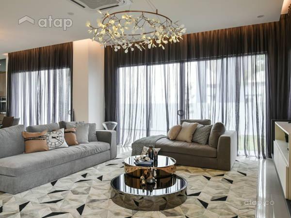 Contemporary Modern Living Room@Kepayang Haven