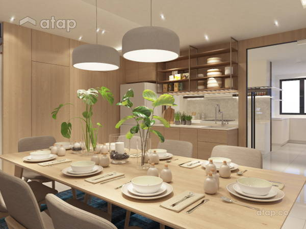 Contemporary Modern Dining Room Kitchen@Kalista Park Homes Superlink