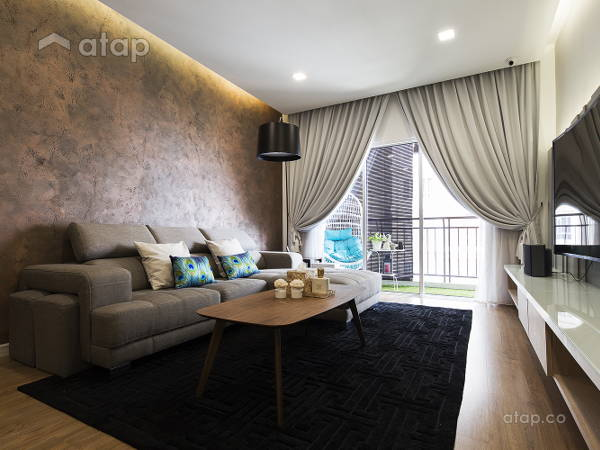 Contemporary Modern Living Room@Waldorf Tower, Mont Kiara
