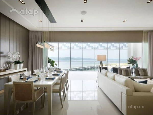 Contemporary Modern Living Room Dining Room@Southern Marina