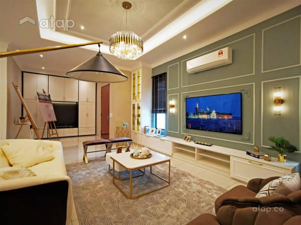 Country Modern Living Room@Setia Alam Sari Type B