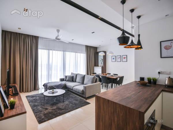 Minimalistic Modern Living Room@Cloudtree Residence, Balakong