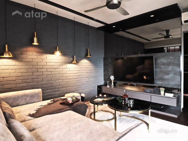 Contemporary Minimalistic Living Room@CONTRASTING ELEMENTS OF MODERN INTERIOR