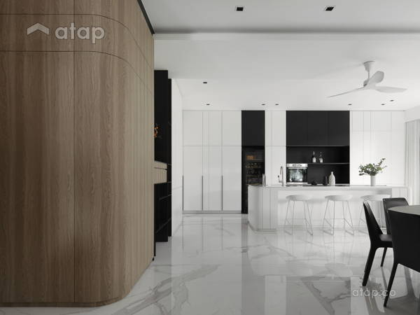 Contemporary Minimalistic Dining Room Kitchen@CENTRE OF ATTENTION - Bungalow, Seremban 2