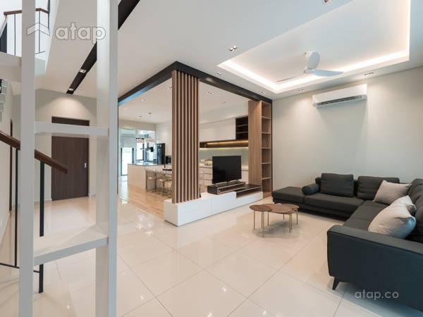 Modern Scandinavian Dining Room Living Room@Scarlet Rimbayu Double Storey Terrace