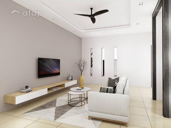 Contemporary Modern Living Room@TAMAN MAJU, RAUB PAHANG