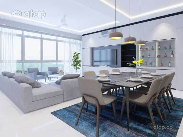 Contemporary Minimalistic Living Room@Twins Damansara Heights Condo