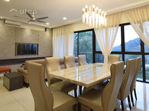 Contemporary Dining Room@Condo @ Seri Riana