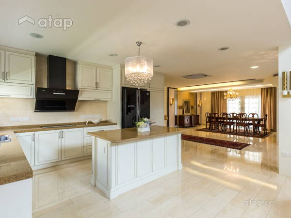 Classic Country Dining Room Kitchen @ Luxury Classic Bungalow At Taman TAR.  Interior Design And.