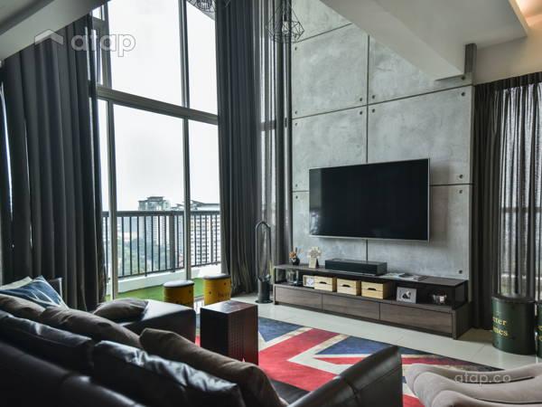Industrial Rustic Living Room@< Industrialized Chic > @ Armanee Terrace II