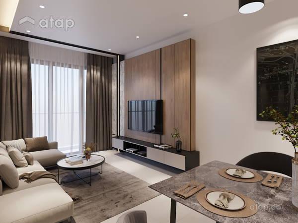 Modern Dining Room Living Room@United Point Residence