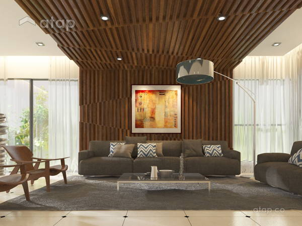 Contemporary Modern Living Room@Bungalow - Taman Gombak