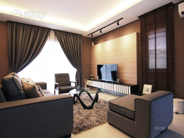 Contemporary Modern Living Room@Glomac - Show House