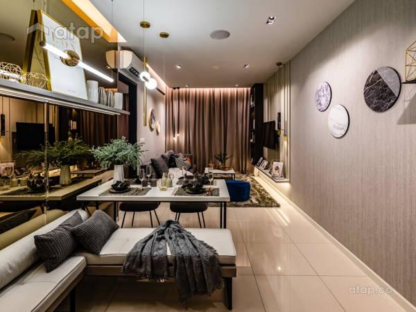 Classic Minimalistic Family Room Living Room@Sunway velocity condo