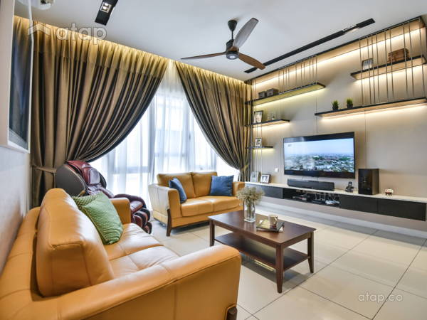 Contemporary Modern Living Room@N'Dira Townhouse, Puchong South