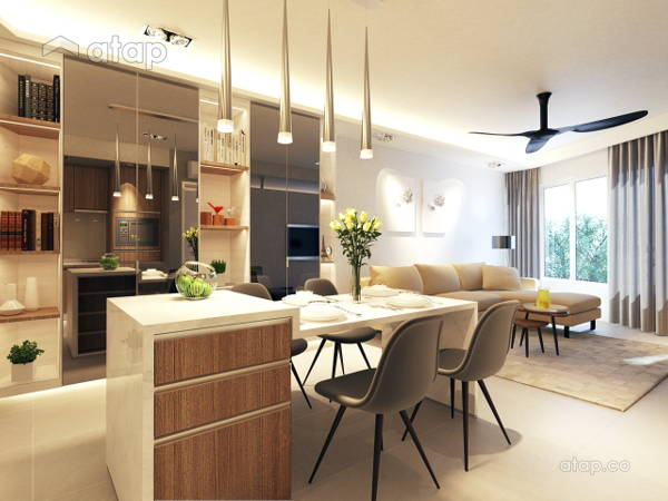 Contemporary Modern Dining Room@AraGreens Residences (Type A1)
