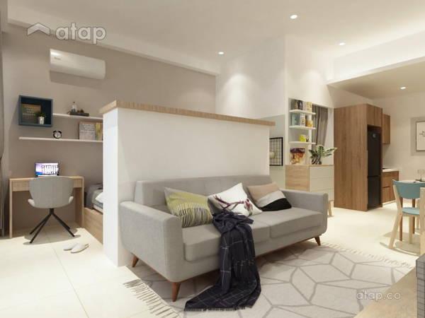Minimalistic Modern Living Room@Palazio Serviced Apartment @ Johor Bahru