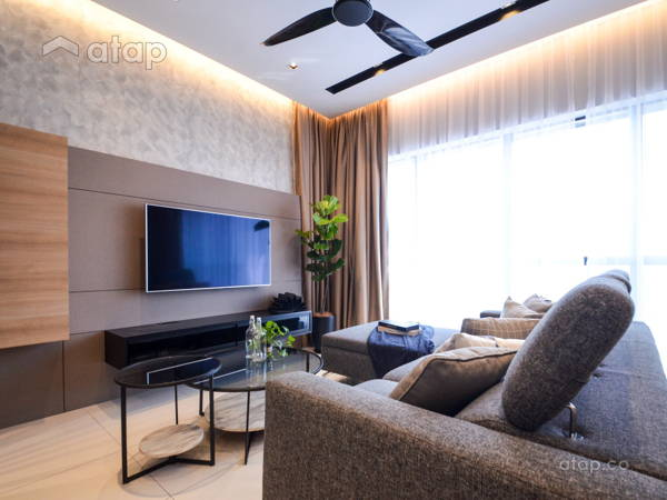 Contemporary Modern Living Room@Project Icon Residenz, Icon City PJ