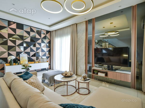 Contemporary Living Room@Seri Residences