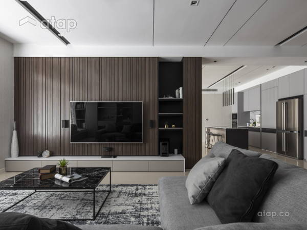 Contemporary Modern Kitchen Living Room@The Dark Contour - Pavilion Hilltop