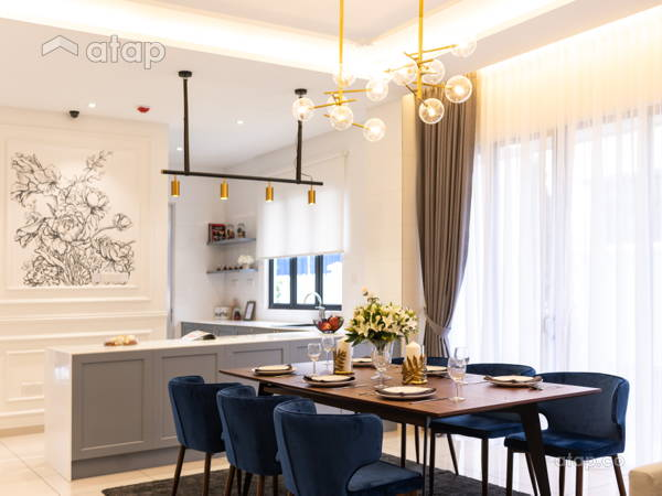 Classic Modern Dining Room Kitchen@Arundina