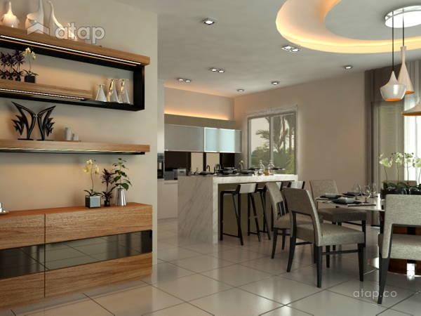 Contemporary Modern Dining Room Kitchen@Subang USJ 1