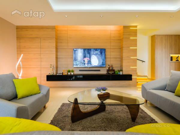 Contemporary Living Room@3-Storey Corner Terrace , Laman Rimbunan , Kepong
