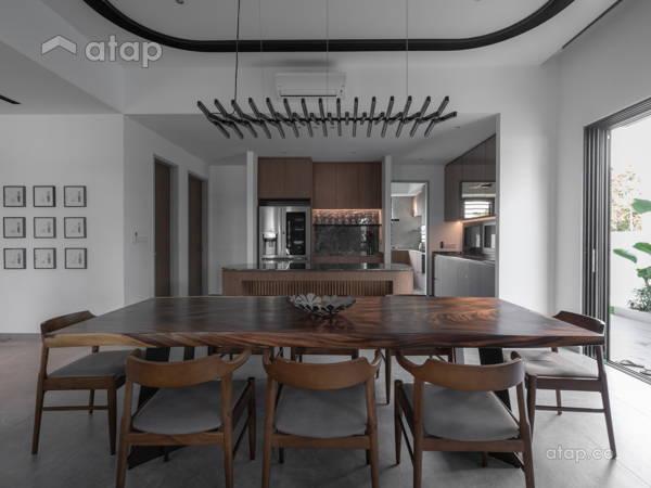 Asian Modern Dining Room Living Room@Hunter Douglas Exclusive Suites