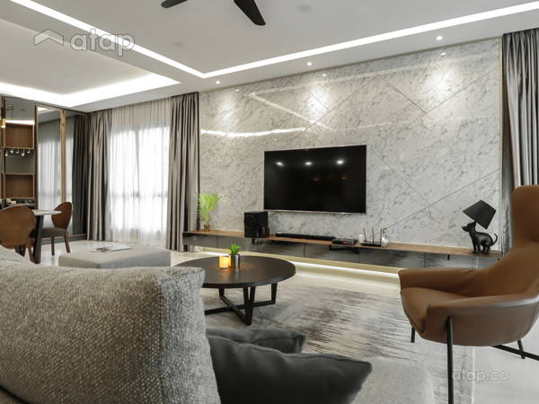 Contemporary Modern Living Room@Modern Luxury Residence at Mont Kiara 22