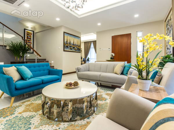 Classic Modern Family Room Living Room@Modern classic bungalow at Setia Alam, Selangor