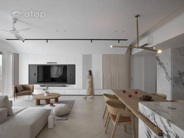 Contemporary Zen Kitchen Living Room@LIVING CURVE - Sentul, Kuala lumpur