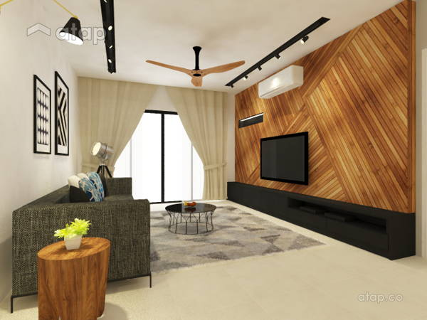 Contemporary Modern Living Room@X2 Residency, Puchong South