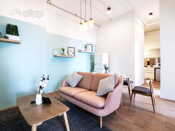 Minimalistic Scandinavian Dining Room Living Room@Vida @ Bukit Ceylon