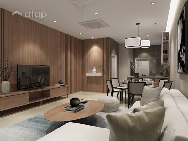 Minimalistic Zen Living Room@Neutral Minimalist Zen - Valley West 2, Horizon Hills