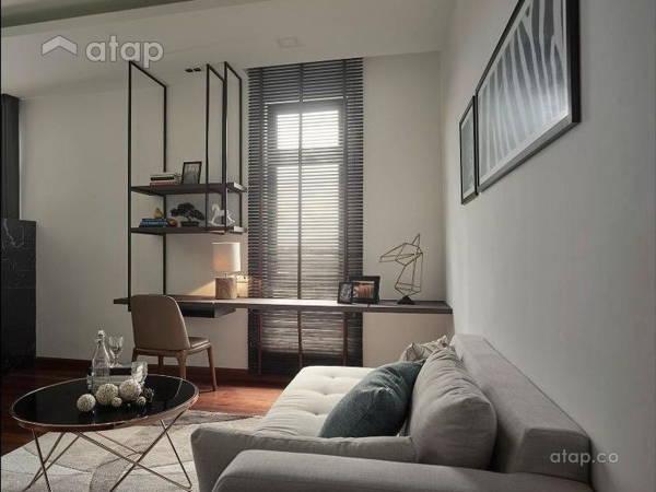 Malaysia Neutral Zen Study Room Architectural Interior Design Ideas In