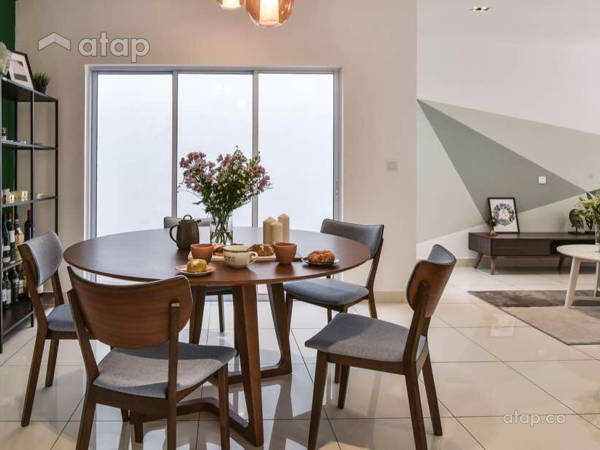 Modern Scandinavian Dining Room Living Room@Semenyih Residence