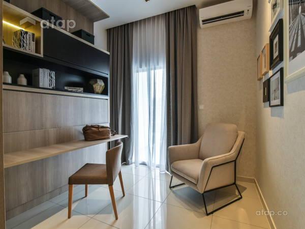 Malaysia Orange Study Room architectural interior design ideas in