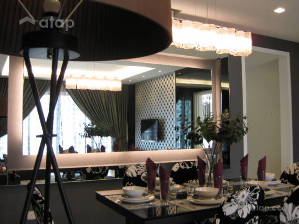 Contemporary Modern Dining Room@Condominium 1889 Mont Kiara