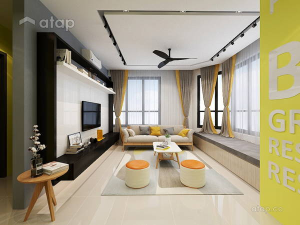 Contemporary Modern Living Room@KL GATEWAY RESIDENCE (BANGSAR SOUTH)