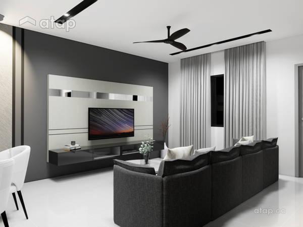 Minimalistic Modern Living Room@TAMAN CONNAUGHT, CHERAS KUALA LUMPUR