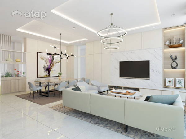 Contemporary Dining Room Living Room@SHNG VILLA G
