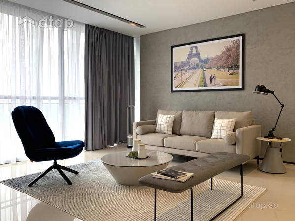 Contemporary Modern Living Room@Project Fennel
