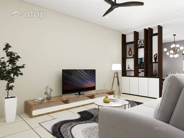 Classic Modern Living Room@BANDAR KINRARA 7, PUCHONG