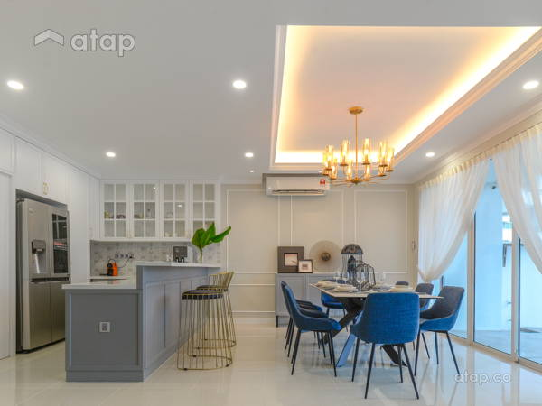 Classic Modern Dining Room Kitchen@Armanee Terrace Condo
