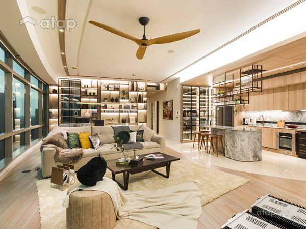 Asian Scandinavian Dining Room Kitchen@Urban Luxury Sleek Contemporary